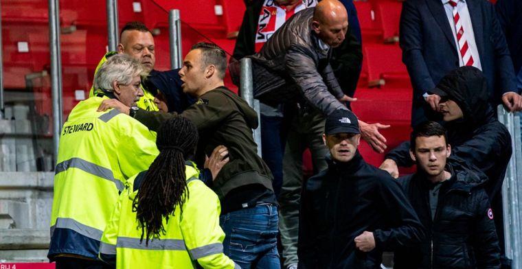 Tijdens opstootje valt fan van tribune: 'Zwaargewond naar het ziekenhuis'