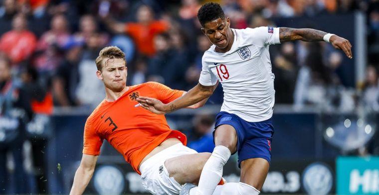 Fout De Ligt tegen Engeland: 'Wel lekker dat hij nog een jaartje bij Ajax blijft'