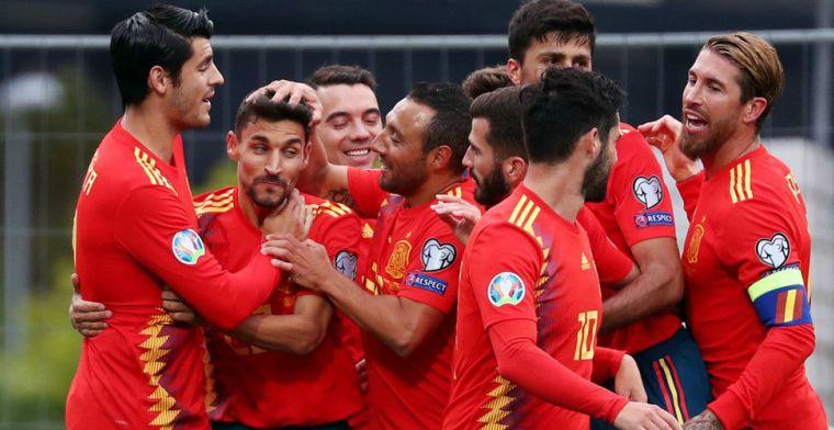EK-kwalificatie: eenvoudige zege Spanje, Tadic en Servië krijgen pak slaag