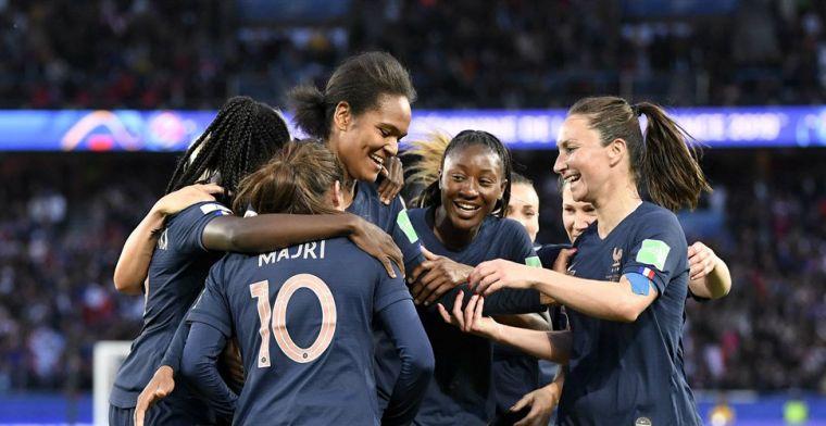 Frankrijk begint wervelend aan WK vrouwen en zet Zuid-Korea eenvoudig opzij
