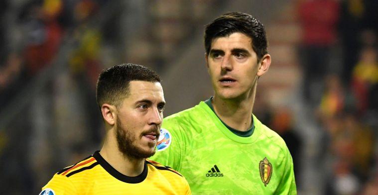 Chelsea-fans weer boos op Courtois na Hazard-tweet