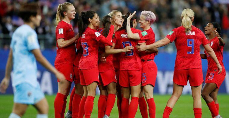 Vijf goals van Morgan tegen Thailand: VS breken WK-record met 13-0 (!) zege