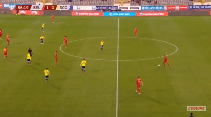 GOAL! Lukaku zet Rode Duivels op geruststellende 2-0 voorsprong tegen Schotland