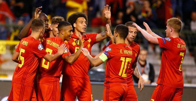 België blijft nummer één op de FIFA-ranking en loopt zelfs verder uit