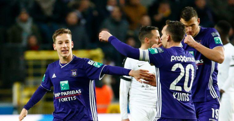 Verschaeren overweegt studie en carrière bij Anderlecht te gaan combineren