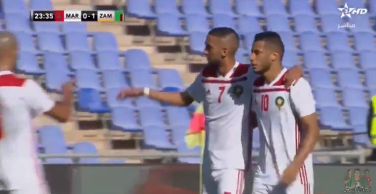 Ziyech heeft smaak weer te pakken en scoort twee keer voor Marokko