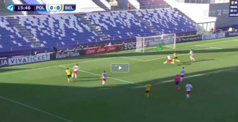 GOAL: Jonge Duivels komen op voorsprong na knap doelpunt Leya Iseka