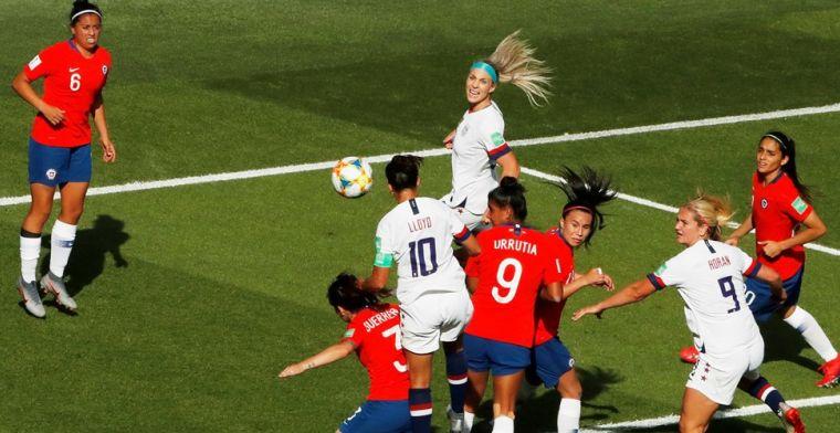 WK vrouwenvoetbal: favoriet Amerika rekent af met Chili, Zweden blijft in spoor
