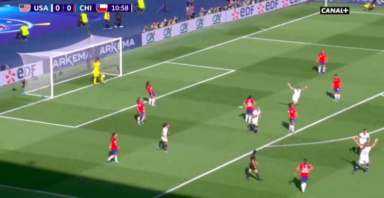 GOAL: Carli Lloyd breekt record met knap openingsdoelpunt tegen Chili