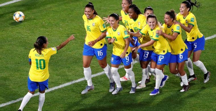 Brazilië krijgt loodzware loting in achtste finales ondanks krappe zege op Italië