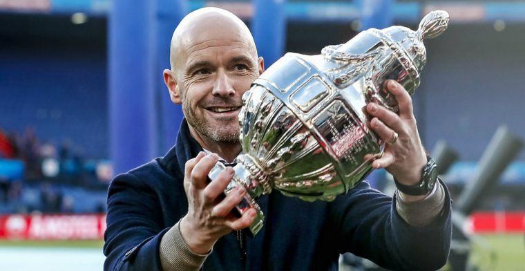 Ten Hag luistert naar gevoel en blijft bij Ajax: 'Dat kan ik enorm waarderen'