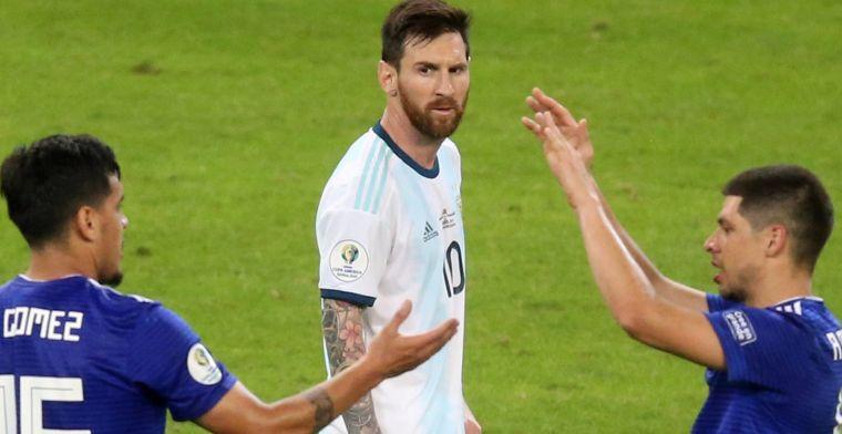 Argentinië ontsnapt aan verlies na doelpunt Messi, Colombia wint Groep B