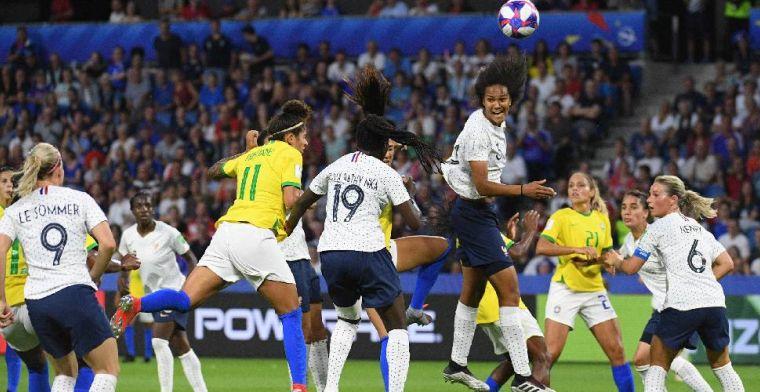 Sprookje Frankrijk gaat door: Brazilië na verlenging uitgeschakeld