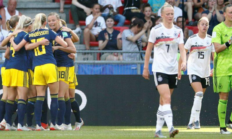 Afbeelding: Zweden stunt na achterstand tegen Duitsland en strijdt met Oranje om finaleplaats