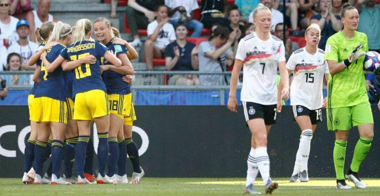 Zweden stunt na achterstand tegen Duitsland en strijdt met Oranje om finaleplaats