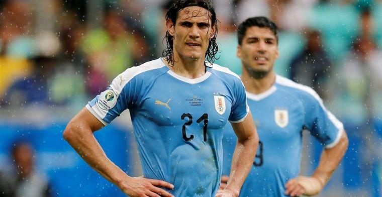 Ongelukkige Uruguayanen treuren na drie afgekeurde treffers en misser van Suarez