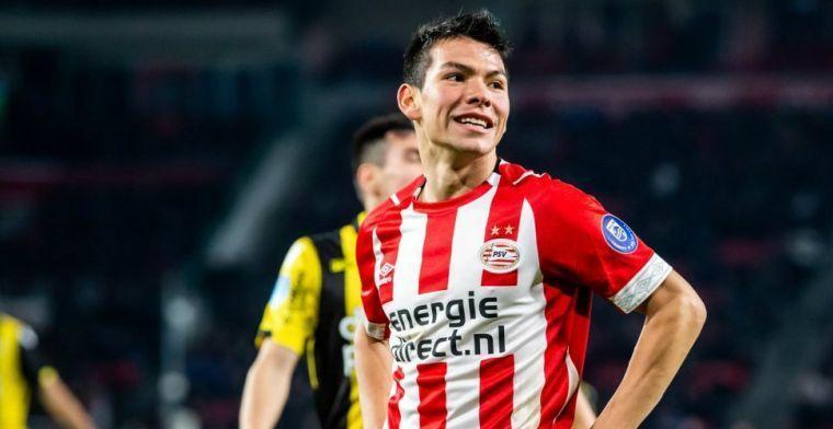 'Raiola recibe una tentadora oferta de España para el atacante del PSV Lozano'