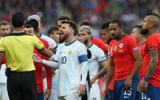 Afbeelding: Argentinië rekent na drie pogingen eindelijk af met Chili, ondanks rood voor Messi