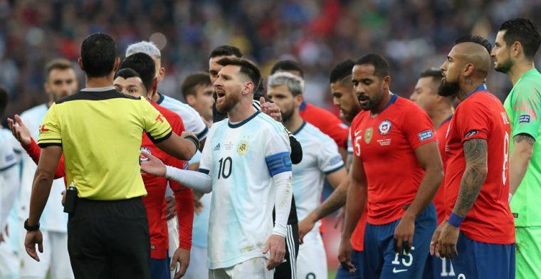 Argentinië rekent na dubbel finaletrauma af met Chili, ondanks rood voor Messi
