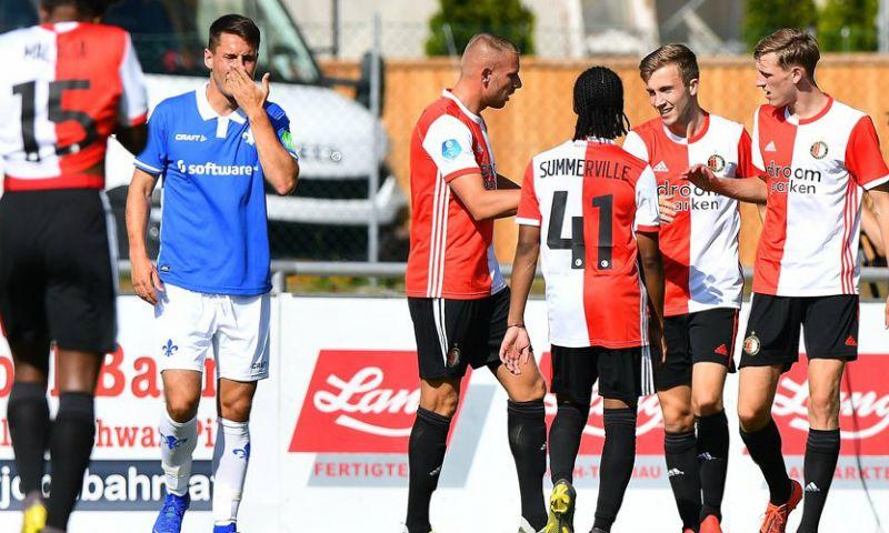 Afbeelding: Feyenoord wint dankzij talenten nipt van Duitsers bij officieus debuut Kelly