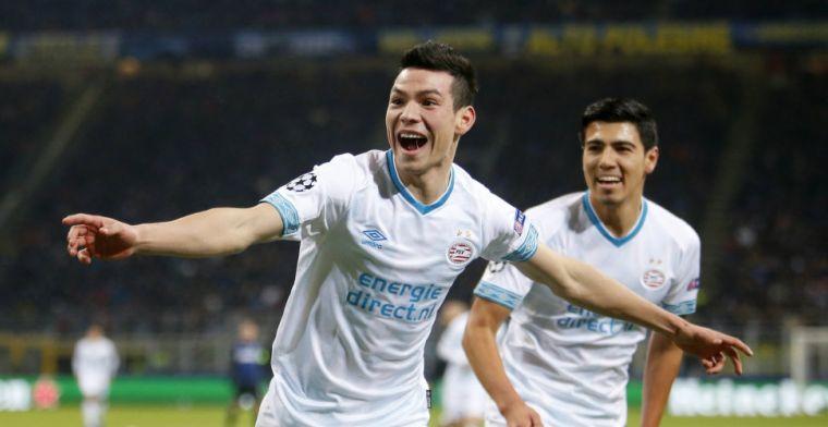 'Lozano sluit aan bij groepstraining PSV, nog geen Gutiérrez en Pereiro'