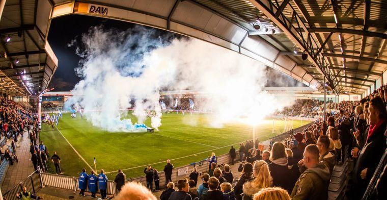 Update: De Graafschap een duel zonder supporters in Vak 22 na afsteken vuurwerk