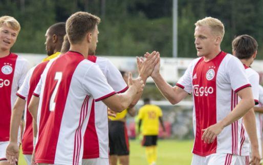 Afbeelding: Ajax blijft foutloos in voorbereiding en wint door late goal van Watford