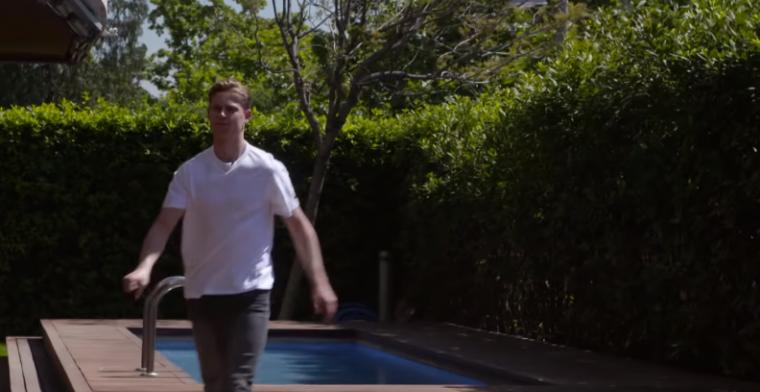 De Jong op huizenjacht: 'Toch wel prettig als er een zwembad in je tuin is'