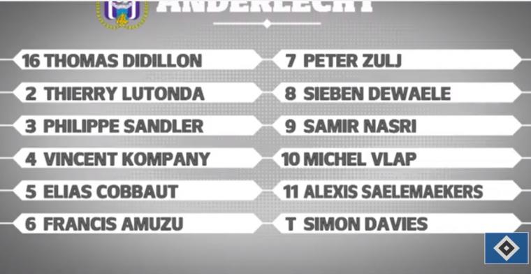 LIVE: In laatste test neemt RSC Anderlecht het op tegen Hamburger SV