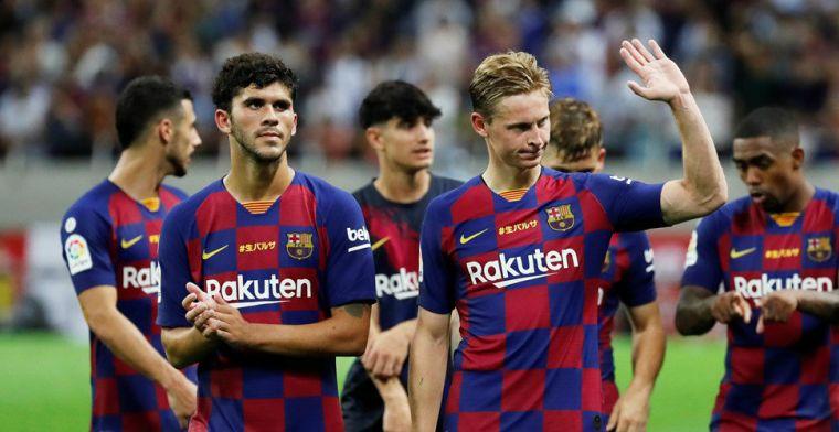 De Jong kritisch na Barça-debuut: 'We speelden niet echt goed'