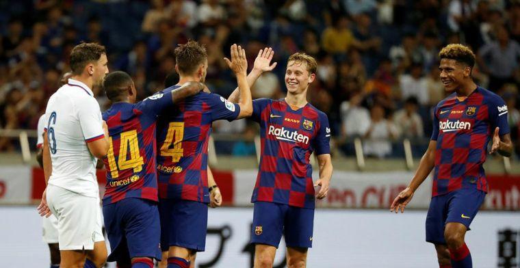 FC Barcelona lijdt nederlaag tegen Chelsea, debuut voor Griezmann en De Jong