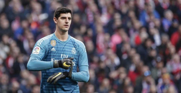 Courtois traint weer bij Real Madrid: 'Blij met snel herstel'