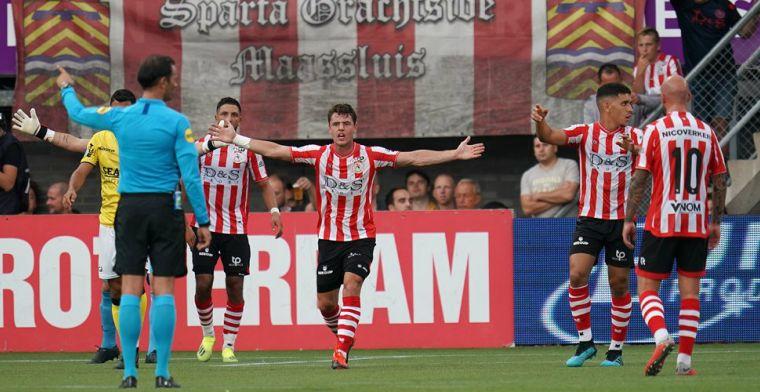 Nijhuis keurt betwistbare Sparta-goal goed: 'Ik durfde niet te hard te juichen'