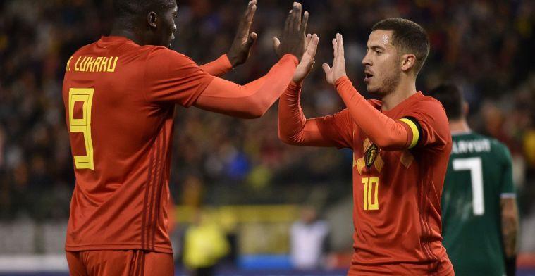 """Hazard neemt het op voor Lukaku: """"Hij doet veel meer"""""""