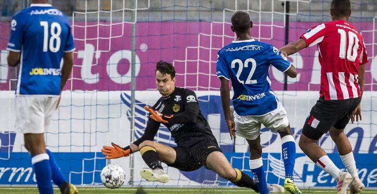 Lato en Ihattaren maken indruk bij Jong PSV, Jonker debuteert met punt bij Jong AZ