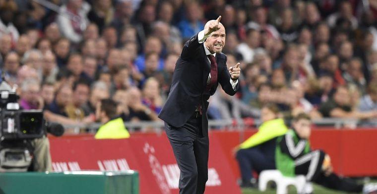 Ten Hag kritisch op Ajax-defensie: 'Daar ben ik heel erg ontevreden over'