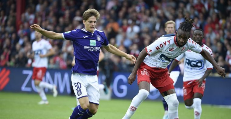 Anderlecht wint voor vierde keer op rij niet, Kortijk buigt achterstand nog om