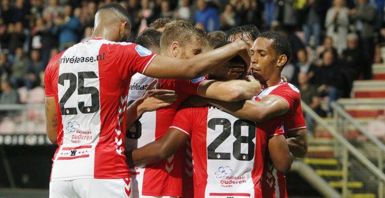 Heerenveen laat kans op koppositie liggen, FC Emmen van dubbele nul af