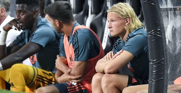 'Dolberg kon niet met de druk omgaan bij Ajax, voetballen kan hij wel'