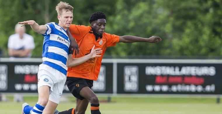Neefje van Huntelaar duikt na vijf Keuken Kampioen Divisie-minuten op bij amateurs