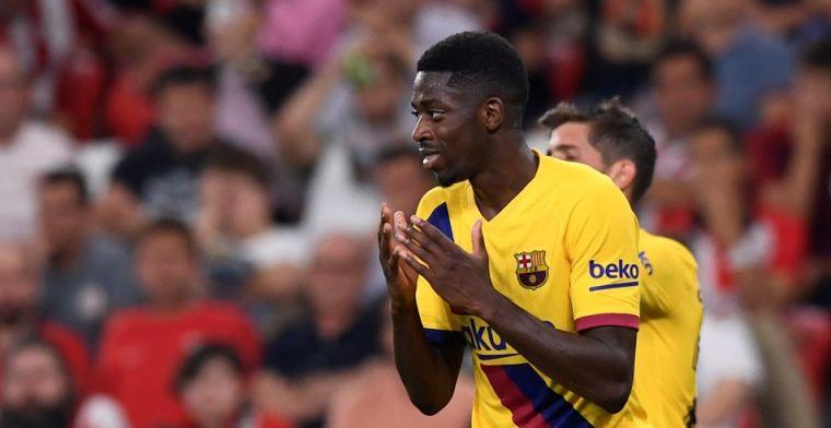'Barça woest op Dembélé: Fransman hield blessure achter om familie te bezoeken'