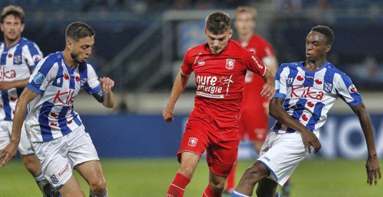 Heerenveen weet kansen niet te benutten en speelt gelijk tegen Twente
