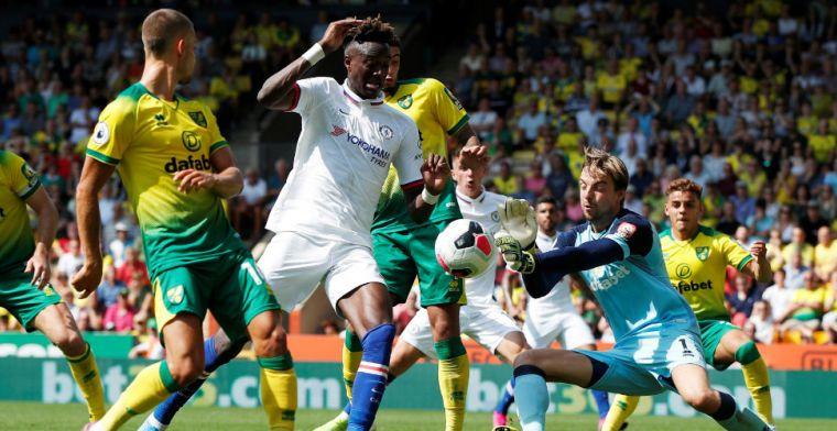 Abraham schiet Chelsea in doelpuntrijk duel langs Norwich City en Krul