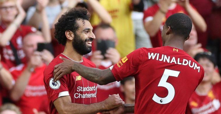 Koploper Liverpool schudt Arsenal probleemloos van zich af en blijft foutloos