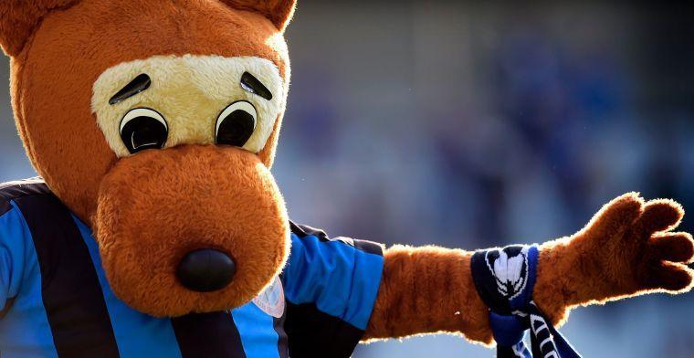 Club Brugge speelt niet, mascottes crashen daarom maar huwelijk