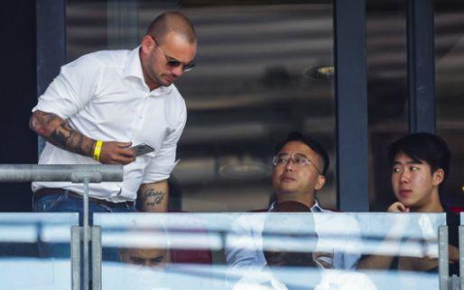 Afbeelding: Sneijder krijgt te maken met fatshaming: 'Hij leefde jaren als een monnik'