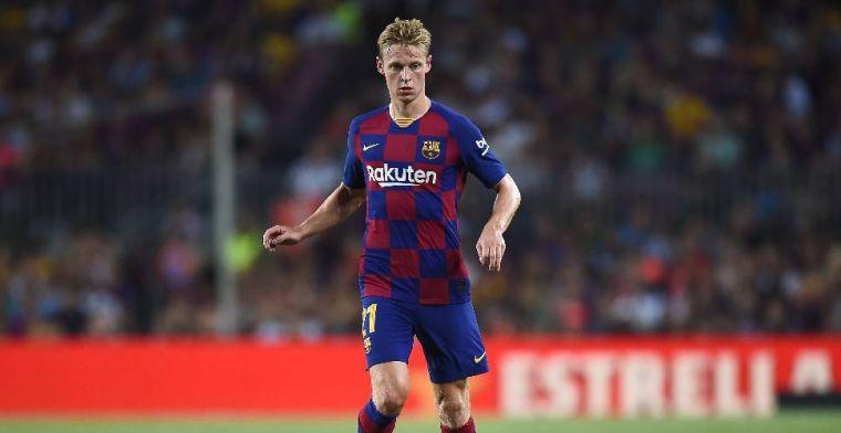 Andere rol De Jong bij FC Barcelona: 'Ik vind toch dat hij het goed heeft gedaan'