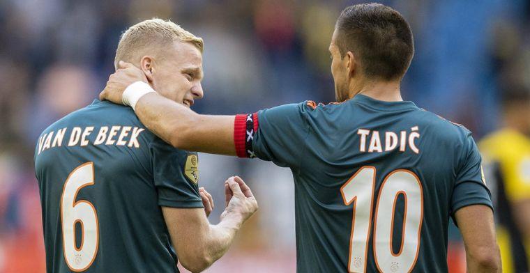 Geluk bij ongeluk voor Ajax: angst voor zware blessure Van de Beek ongegrond