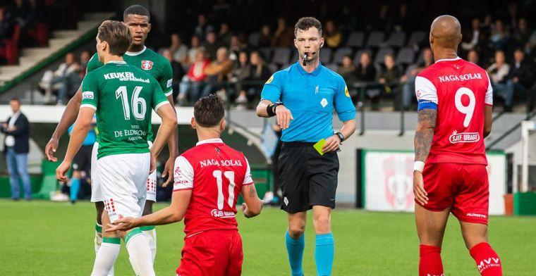 Lachwekkende schwalbe tijdens FC Dordrecht-MVV: Het zag er niet uit, of wel?