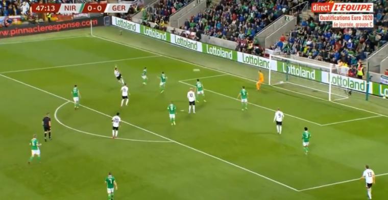 Absolute wereldgoal in groep Oranje: Duitsland leidt tegen Noord-Ierland